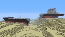 Stranded tanker