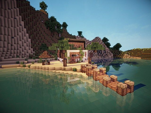 how to build a modern beach house in minecraft