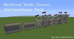 Medieval Walls Towers & Gatehouse Pack Minecraft Project
