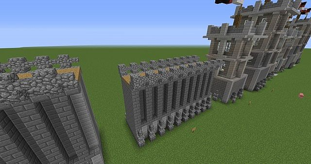 Minecraft Medieval Wall for Pinterest