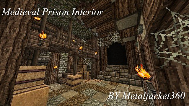 Medieval Prison Interior Minecraft Project
