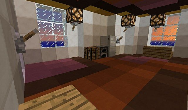 Nether Quartz Stained Clay House Minecraft Project