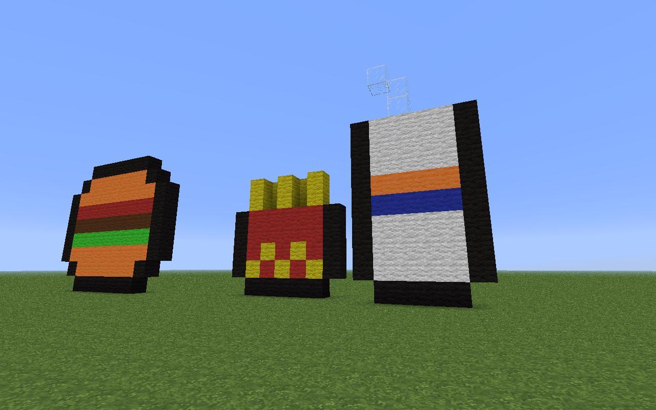 Fast Food PixelArt Minecraft Project