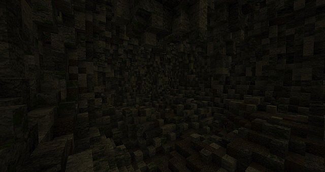 One of the larger caverns on the island