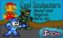 Minecraft cool Sculptures (mario, megaman, etc) Minecraft Blog Post