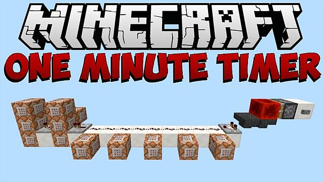 1 7 minecraft  one minute timer minecraft project