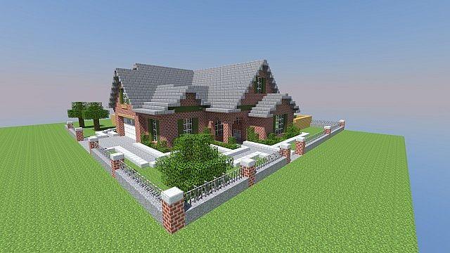 minecraft how to build brick house