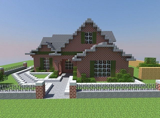. Small Modern Brick House Minecraft Project