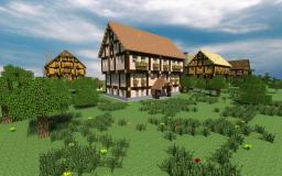 Subscriber special - 4 Tudor style buildings Minecraft Map & Project