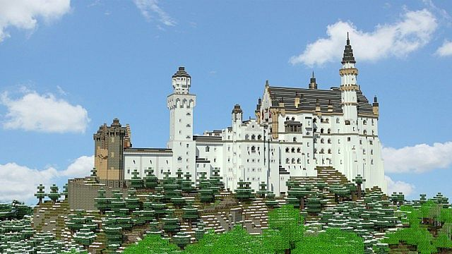 Schloss Neuschwanstein Survival Project Minecraft Project