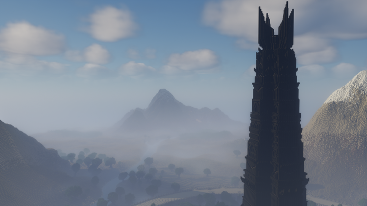 Isengard with the tower of Orthanc