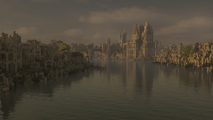 The ruined city of Osgiliath