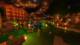Underground Oasis Survival Base Minecraft Map & Project