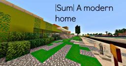 |Sum| A modern home Minecraft Map & Project