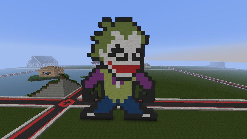 Joker Pixel Art Minecraft Project