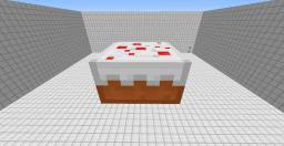 Giant Edible Redstone Cake! Minecraft Map & Project
