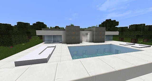 Symmetrical A Modern Minimalist House Minecraft Project