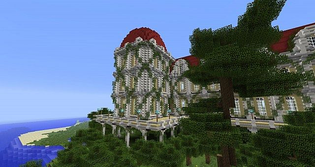 Custom Made Spawn Building Minecraft Project
