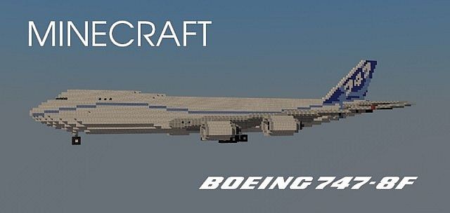 Boeing 747-8F (Boeing House Livery) Minecraft Project