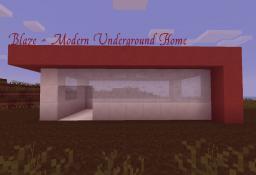 Blaze - Modern Underground Home Minecraft Map & Project