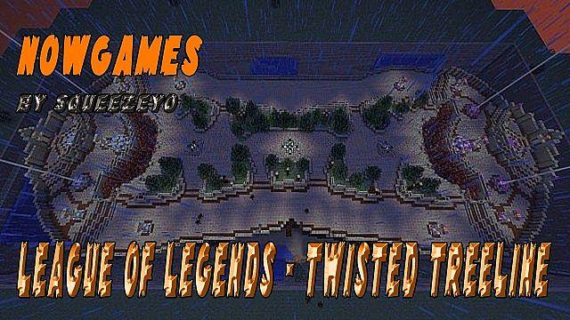 League of Legends Twisted Treeline Map 3 vs 3 (Minecraft