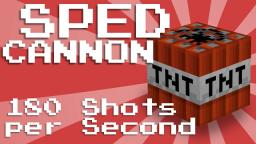 TNT SPED Cannon! [180 Shots a Second] Minecraft