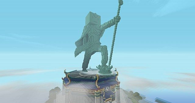 Tlaminecraft creative build roleplay world edit legend of our signature aang statue on aang memorial island overlooking republic city gumiabroncs Images