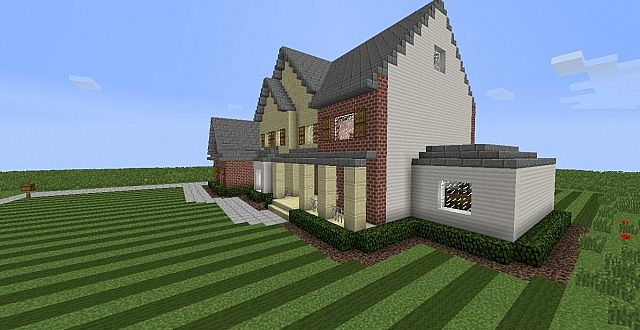 how to build a surburban house in minecraft