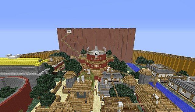 Konohagakure (Hidden Leaf Village) Minecraft Project