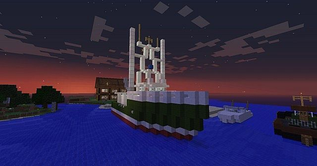 Minecraft Fishing boat Minecraft Project