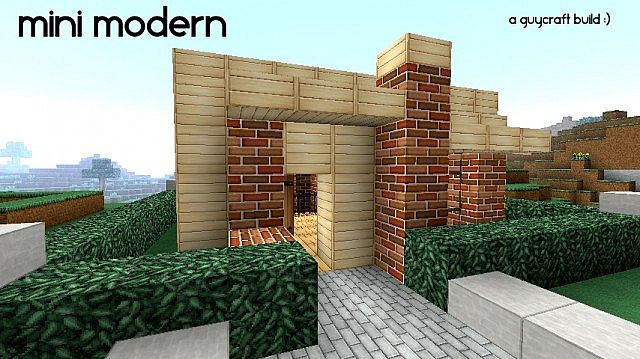 Minecraft modern house 39 mini modern 39 1 6 4 minecraft for Modern house mc