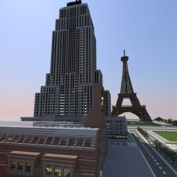 Empire State Building - Full Detailed Minecraft Map & Project