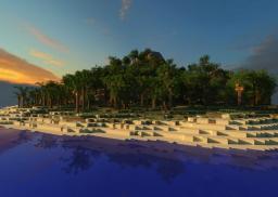 Tropical Island: Custom Terrain Minecraft Map & Project