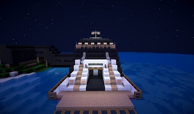 modern zannix luxorious royal yacht middle earth minecraft project. Black Bedroom Furniture Sets. Home Design Ideas