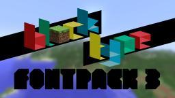 Block Type - Fontpack 3! A 'weekly' fontpack installment! Minecraft Project