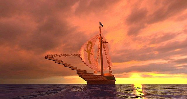 The Golden Ankh - Sloop Version at Sunset