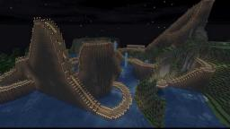 Wooden Rollercoaster Minecraft Map & Project