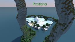 Posteria, a futuristic organic build Minecraft Project