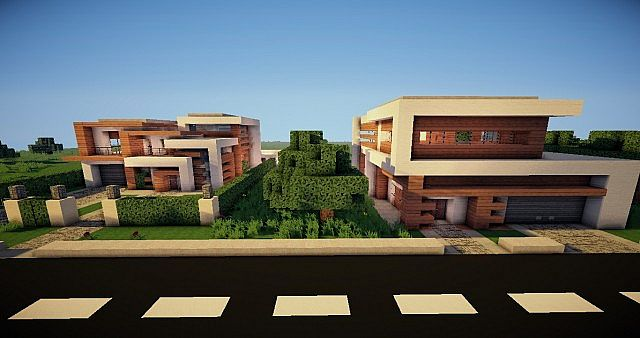 The Street Of Modern Houses Every Day A New House By Lexx0r Minecraft Project
