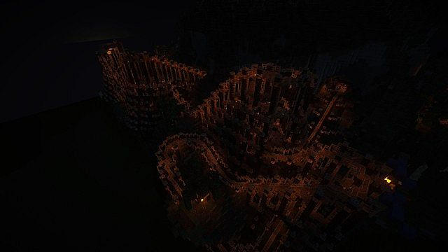 The wooden coaster at night