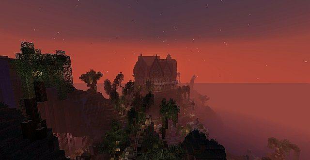 Mist near the villa...