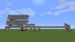 Automatic Minecart Transport Machine Minecraft Project