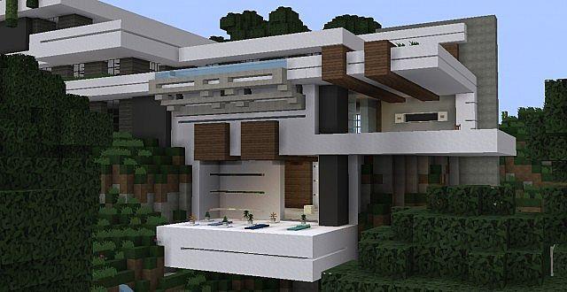 Wok Cliffside Modern Mansion Minecraft Project