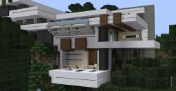 WOK CLIFFSIDE MODERN MANSION Minecraft Project