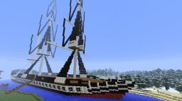 The USS Constitution Minecraft Map & Project