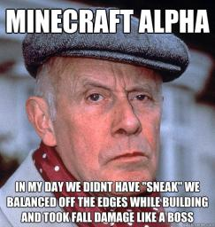 I miss Minecraft Minecraft