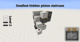 Smallest flush piston staircase Minecraft Map & Project
