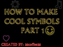 How to make basic symbols PART 1 of 3 Minecraft Blog