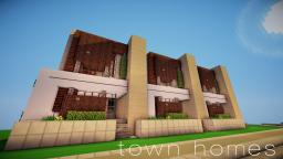 Modern Town Homes Minecraft Map & Project