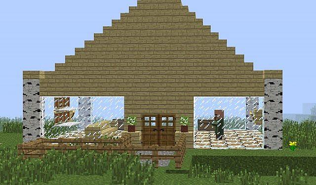 Birch Wood House Schematic Minecraft Project